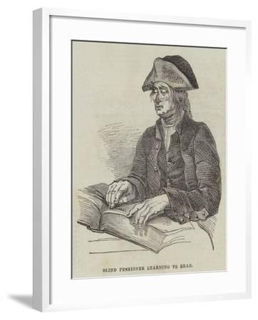 Blind Pensioner Learning to Read--Framed Giclee Print