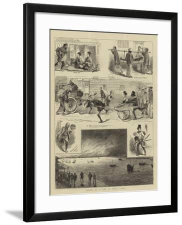 Scenes at a Fire at Tokio, Japan--Framed Giclee Print