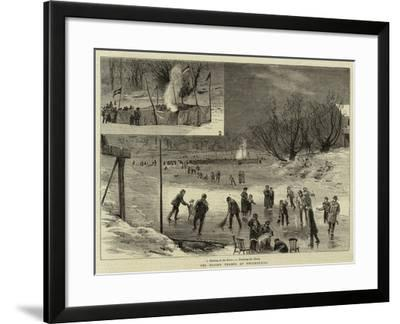 The Frozen Thames at Twickenham--Framed Giclee Print