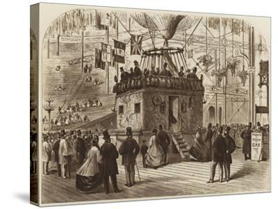 The Car of Nadar's Balloon, 1863--Stretched Canvas Print