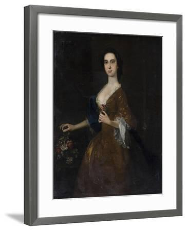 Portrait of a Lady in Red Dress--Framed Giclee Print