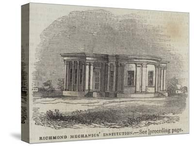 Richmond Mechanics' Institution--Stretched Canvas Print