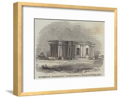Richmond Mechanics' Institution--Framed Giclee Print