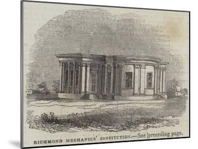 Richmond Mechanics' Institution--Mounted Giclee Print
