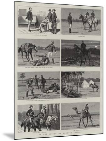 In the Australian Mounted Police--Mounted Giclee Print