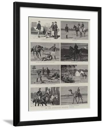 In the Australian Mounted Police--Framed Giclee Print