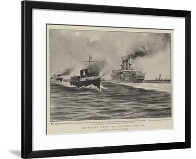 Extremes Meet, an Eastern Visitor--Framed Giclee Print