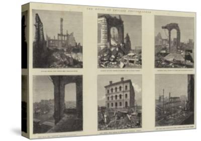 The Ruins of Chicago Photographed--Stretched Canvas Print