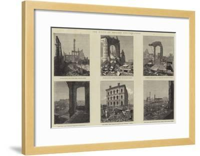 The Ruins of Chicago Photographed--Framed Giclee Print