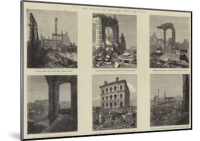 The Ruins of Chicago Photographed--Mounted Giclee Print
