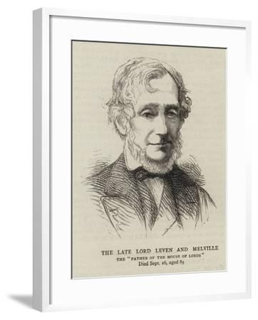 The Late Lord Leven and Melville--Framed Giclee Print