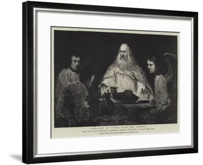 Abraham at Table with the Angels--Framed Giclee Print