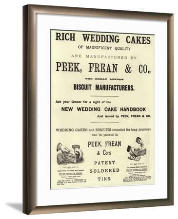 Advertisement, Rich Wedding Cakes--Framed Giclee Print