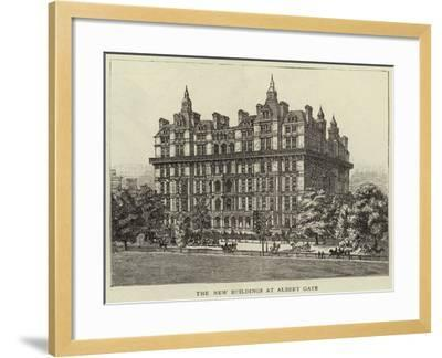 The New Buildings at Albert Gate--Framed Giclee Print