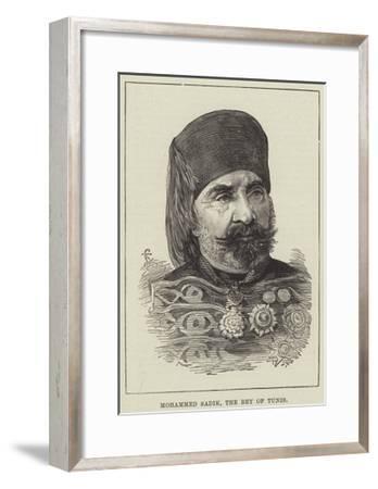 Mohammed Sadik, the Bey of Tunis--Framed Giclee Print