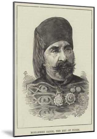Mohammed Sadik, the Bey of Tunis--Mounted Giclee Print