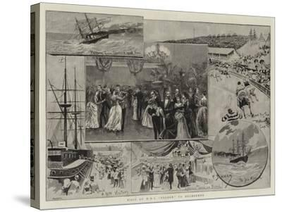 Visit of HMS Nelson to Melbourne--Stretched Canvas Print