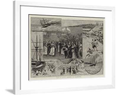 Visit of HMS Nelson to Melbourne--Framed Giclee Print