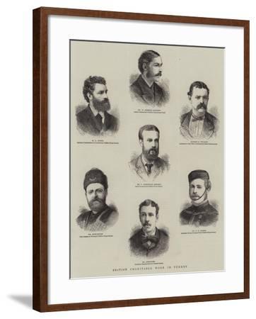 British Charitable Work in Turkey--Framed Giclee Print