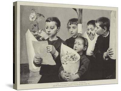 The Children's Birthday Offering--Stretched Canvas Print