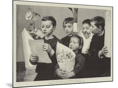 The Children's Birthday Offering--Mounted Giclee Print