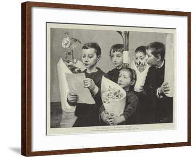 The Children's Birthday Offering--Framed Giclee Print