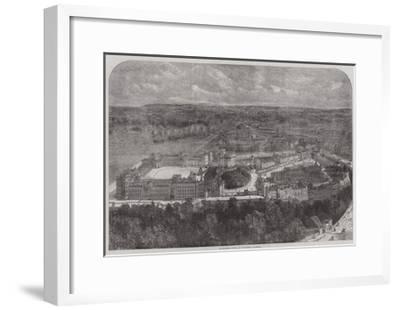 Birdseye View of Windsor Castle--Framed Giclee Print