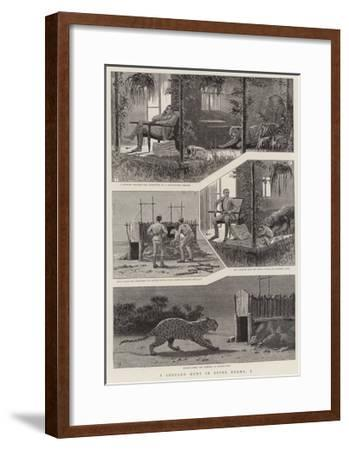 A Leopard Hunt in Upper Burma, I--Framed Giclee Print