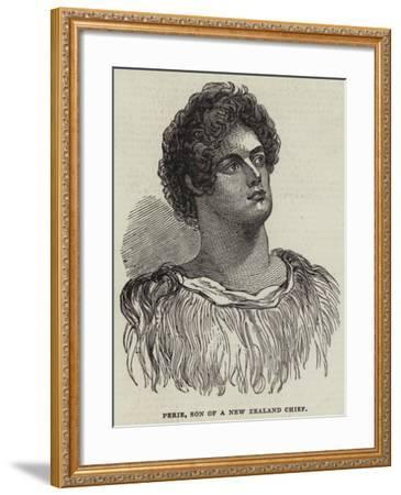 Perie, Son of a New Zealand Chief--Framed Giclee Print