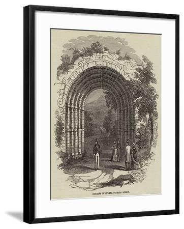 Remains of Strata Florida Abbey--Framed Giclee Print