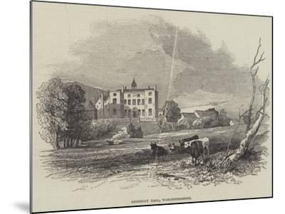 Abberley Hall, Worcestershire--Mounted Giclee Print