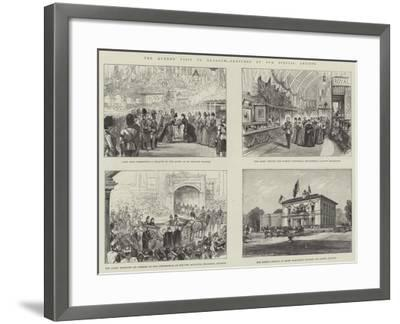 The Queen's Visit to Glasgow--Framed Giclee Print