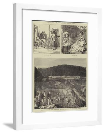 Sketches in the Harz Mountains--Framed Giclee Print