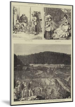 Sketches in the Harz Mountains--Mounted Giclee Print