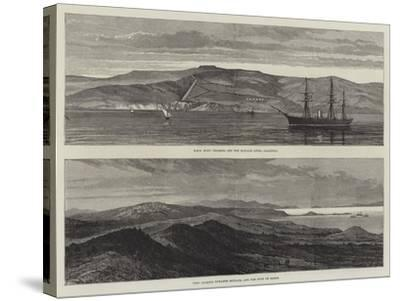 British War Ships Off Boulair--Stretched Canvas Print