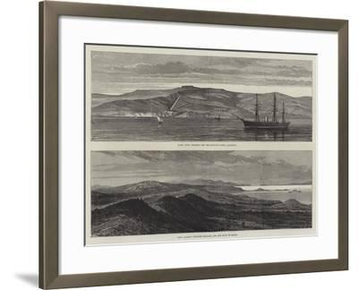 British War Ships Off Boulair--Framed Giclee Print