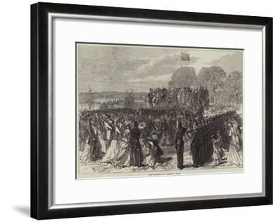 The Opening of Finsbury Park--Framed Giclee Print