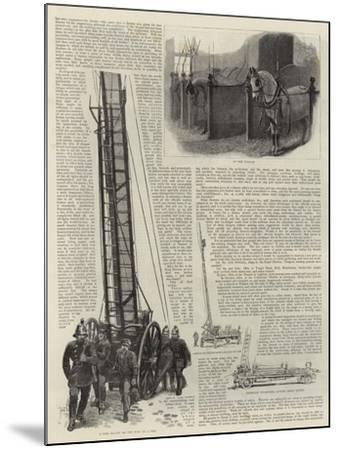 The Metropolitan Fire Brigade--Mounted Giclee Print