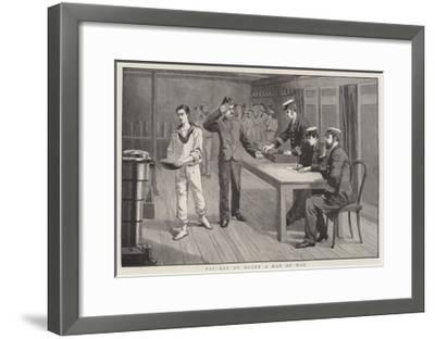 Pay Day on Board a Man of War--Framed Giclee Print
