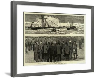 The Wreck of the Indian Chief--Framed Giclee Print