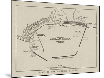 Plan of the Proposed Harbour--Mounted Giclee Print