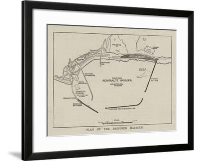 Plan of the Proposed Harbour--Framed Giclee Print