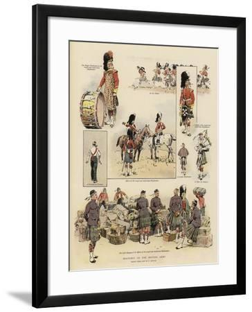 Sketches of the British Army--Framed Giclee Print