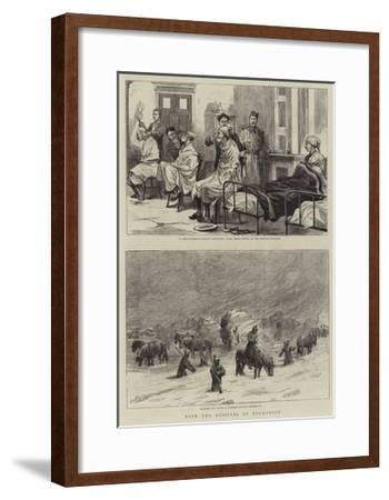 With the Russians at Bucharest--Framed Giclee Print