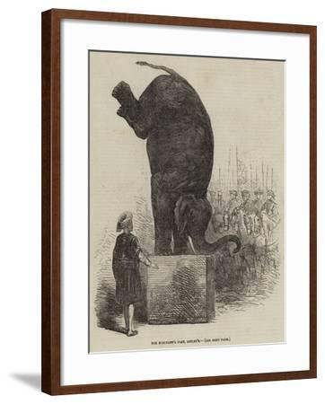 The Elephant's Feat, Astley's--Framed Giclee Print