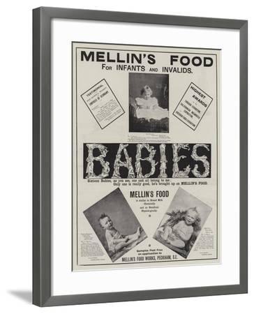 Advertisement, Mellin's Food--Framed Giclee Print