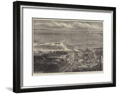 The Swansea Harbour and Docks--Framed Giclee Print