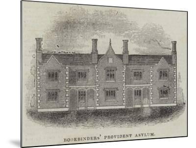 Bookbinders' Provident Asylum--Mounted Giclee Print
