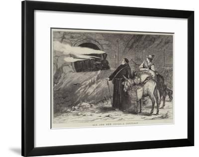 Old and New Style, a Contrast--Framed Giclee Print