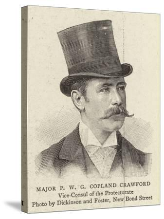 Major P W G Copland Crawford--Stretched Canvas Print
